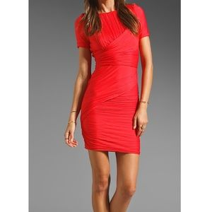 Halston Heritage All Over Pleat Fitted Dress